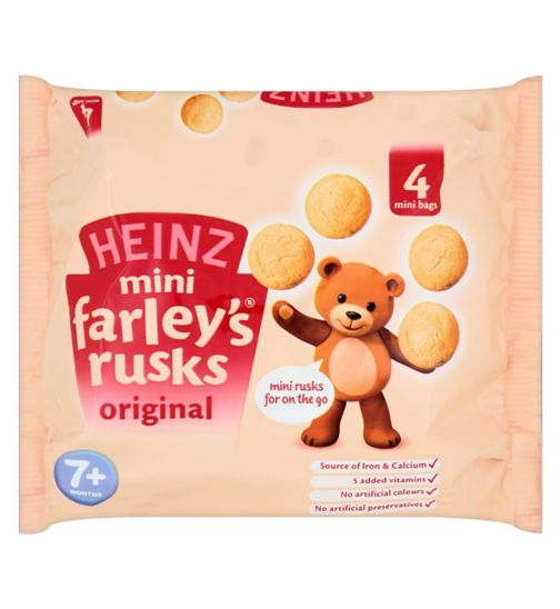 Heinz 7+ Months Mini Farley's Rusks Original 4x30g