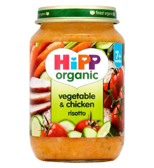 HiPP Organic Vegetable & Chicken Risotto 7+ Months 190g