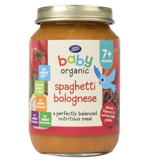 Boots Baby Organic Spaghetti Bolognese Stage 2 7months+ 190g