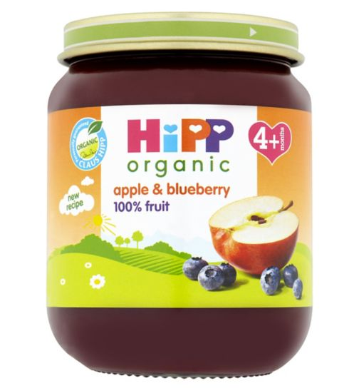 HiPP Organic Apple & Blueberry Dessert 4+ Months 125g