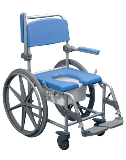 Homecraft Deluxe Wheeled Shower Commode Chair - Self Propelled
