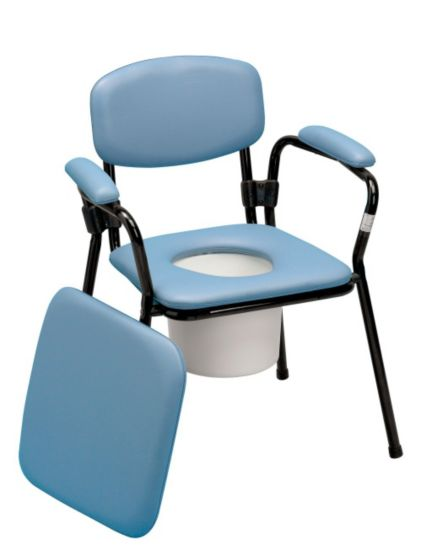 Homecraft Blue Stacking Comfort Commode - Adjustable Height