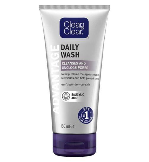 Clean & Clear Advantage Quick Clear Daily Treatment Wash 150ml