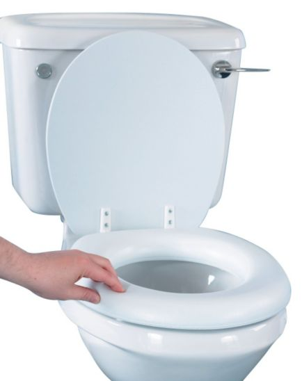 Homecraft Raised Toilet Seat with Lid - Soft