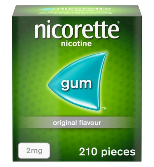 Nicorette Original Flavour Sugar Free Gum 2mg - 210 Pieces
