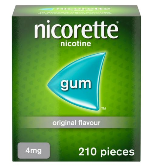 Nicorette Original Flavour Sugar Free Gum 4mg - 210 Pieces