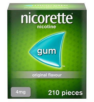 Nicorette 4mg Gum 210 Pieces