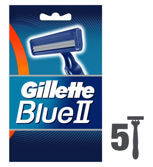 Gillette Blue II Disposable Razor Fixed Head