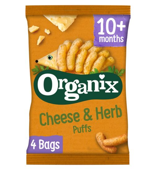 Organix Goodies Organic Cheese & Herb Puffs 4 x 15g