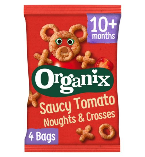 Organix Goodies Organic Saucy Tomato Noughts & Crosses 4 x 15g