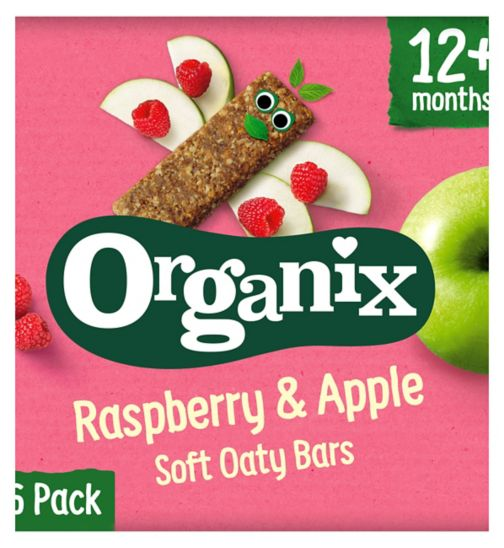 Organix Goodies Organic Raspberry & Apple Soft Oaty Bars 6 x 30g