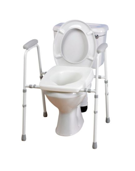 Homecraft Adjustable Stirling Toilet Frame with Padded Arms