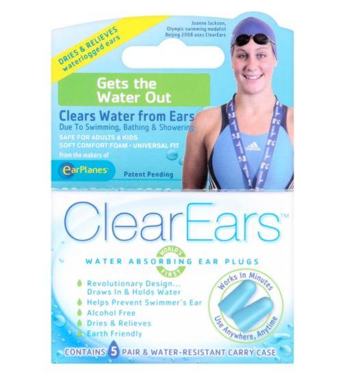 ClearEars Water Absorbing Ear Plugs - 5 Pairs