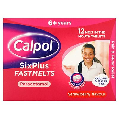 Calpol SixPlus Fastmelts Strawberry Flavour 6+ Years 12s