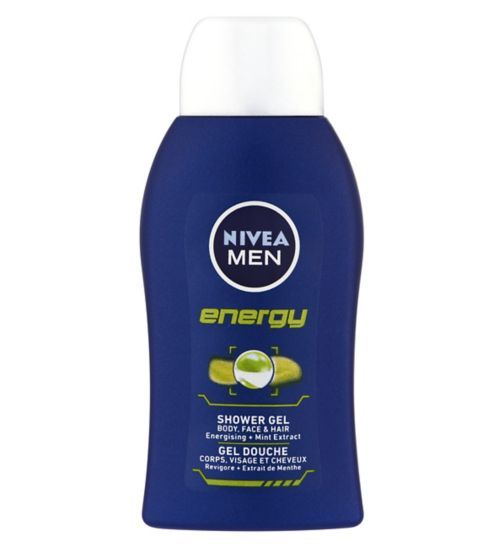 Nivea For Men travel size energy shower gel 50ml