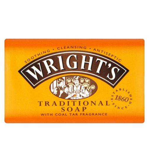 <p>Wrights Traditional&nbsp;Coal Tar Soap 125g</p>