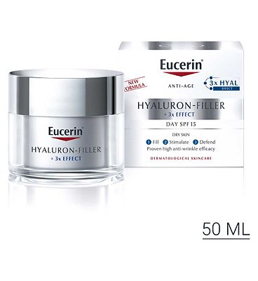 Eucerin Anti-Age Hyaluron-Filler Day Cream for Dry Skin SPF15 + UVA Protection 50ml