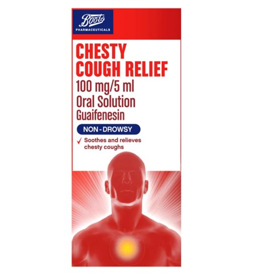 Boots Pharmaceuticals Chesty Cough Relief 100mg/5ml Oral Solution - 240ml