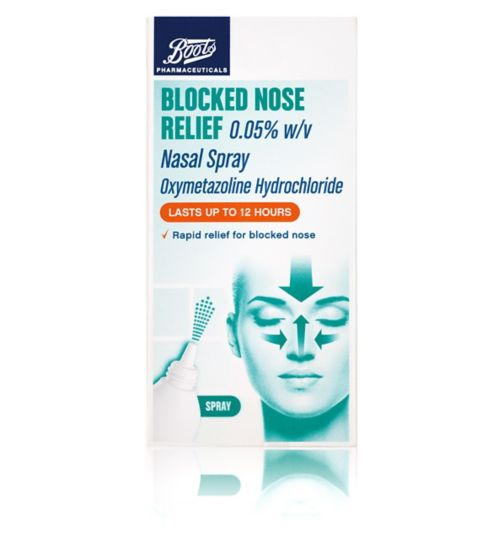 Boots Pharmaceuticals Blocked Nose Relief Nasal Spray - 22 ml