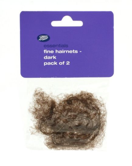 Boots Essentials Dark Fine Hairnets - 2 Pack (T36)