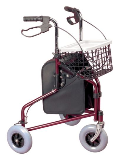 <p>Homecraft Three Wheeled Cable Brakes Rollator</p>