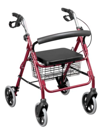<p>Homecraft Four Wheeled Cable Brakes Rollator</p>