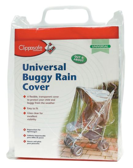 Clippasafe Universal Pushchair Raincover - Clear