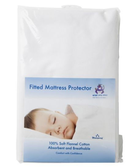 Bibs And Stuff Mattress Protector Fitted - Cot Bed