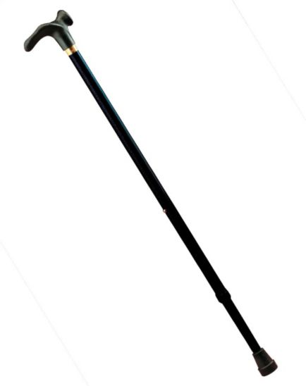 <p>Homecraft Contoured Grip Handle Walking Stick - Black</p>