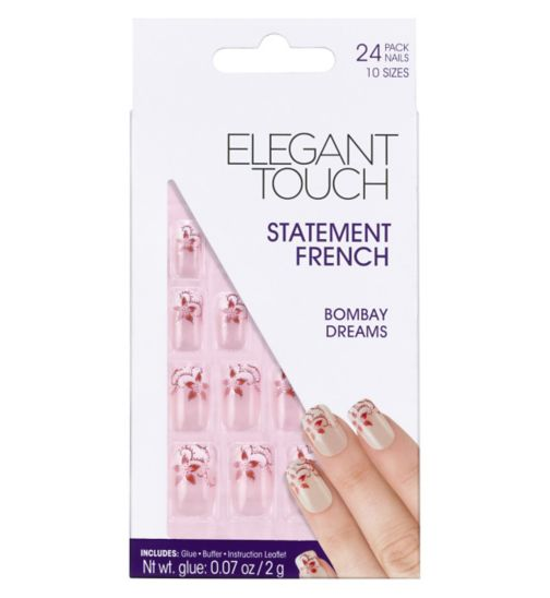 Elegant Touch Decorated French Nails - Bombay Dream (13117)