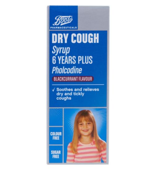 Boots Pharmaceuticals Dry Cough Syrup 6 Years + - 100ml