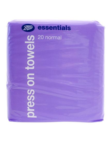 Boots Essential press on towels normal 20 pack