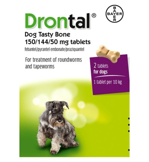 Drontal Plus Flavour Tablets for Dogs - 2 tablets