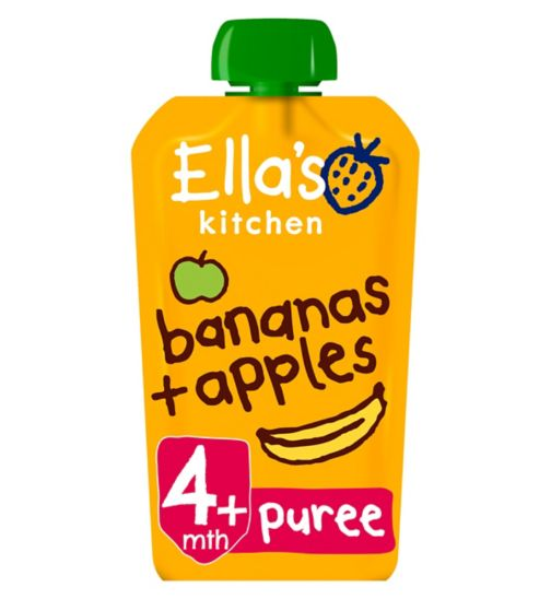 Ella's Kitchen Apples + Bananas Stage 1 from 4 Months 120g