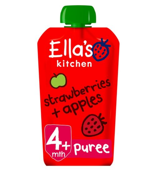 Ella's Kitchen Strawberries + Apples Stage 1 From 4 Months 120g