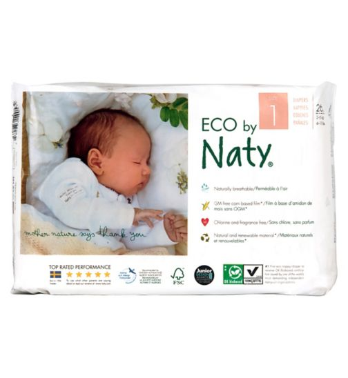 Naty Nature Babycare Size 1 Carry Pack - 26 Nappies