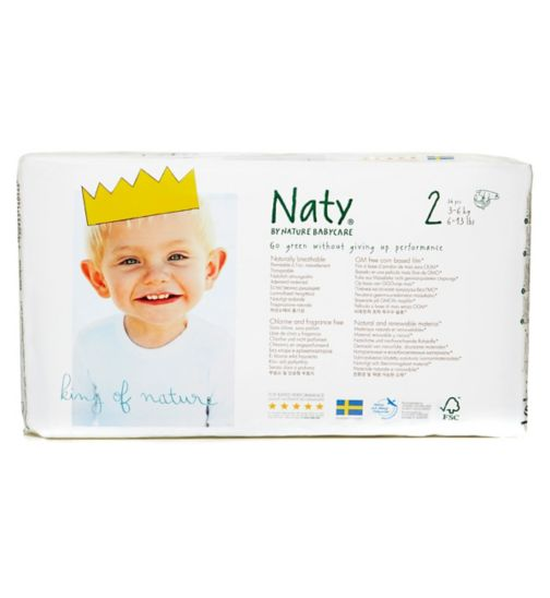 Naty Nature Babycare Size 2 Carry Pack - 1 x 34 Nappies