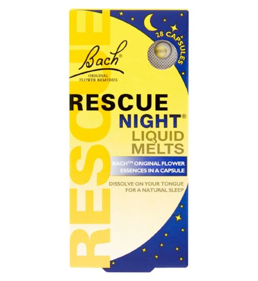 Bach Rescue Night Liquid Melts 28 Capsules 1.8g
