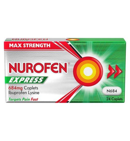 Nurofen Express 684mg Caplets - 24 Ibuprofen Lysine