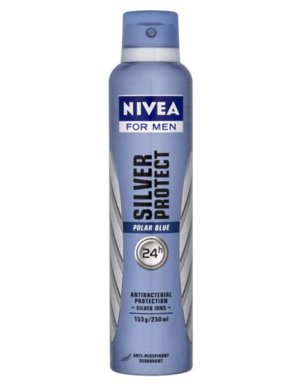 Nivea For Men Silver Protect Polar Blue Anti-Perspirant Deodorant 250ml