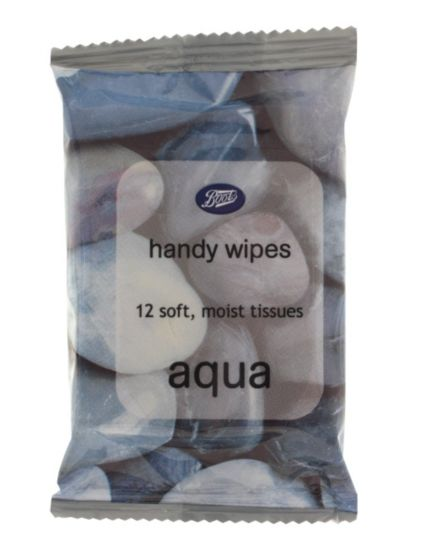 Boots  Handy Wipes  Aqua  x12