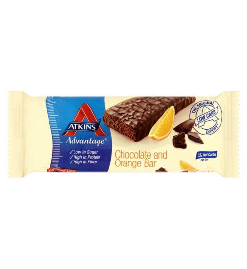 Atkins Advantage Chocolate & Orange Bar with sweetener - 60g