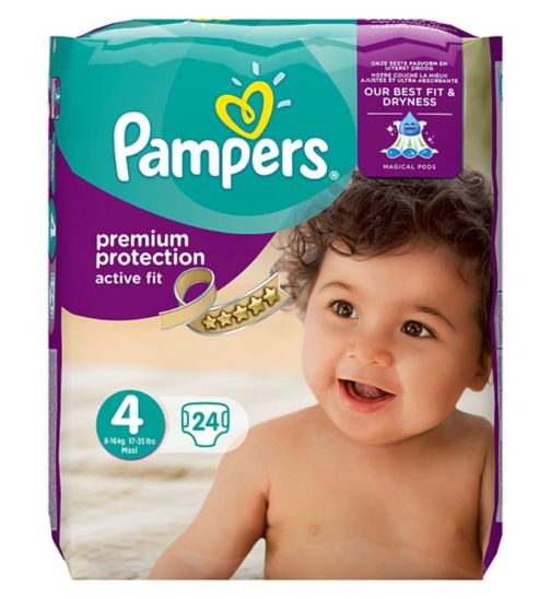 Pampers Active Fit Nappies Size 4 Carry Pack - 24 Nappies