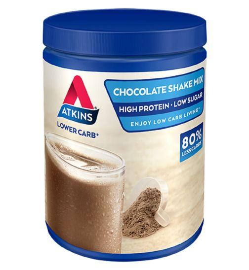 Atkins Advantage Chocolate Shake Mix  with sweeteners - 10 x 37 g