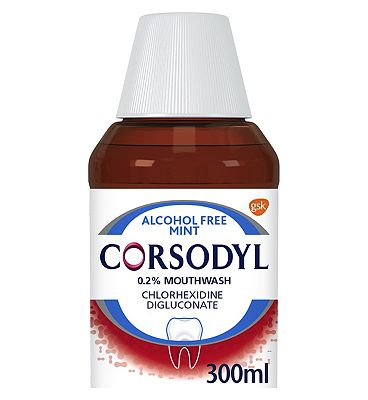 Corsodyl Alcohol Free Mouthwash - 300ml