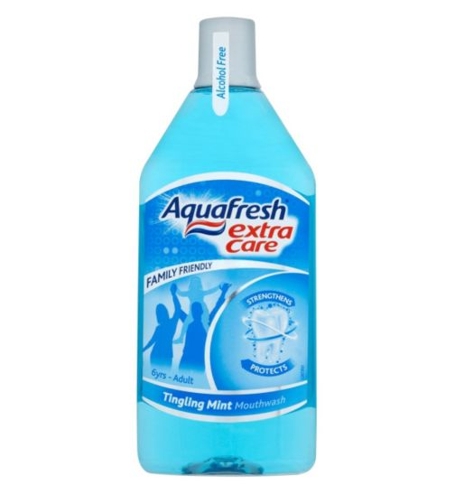 Aquafresh Extra Care Tingling Mint Mouthwash 500ml