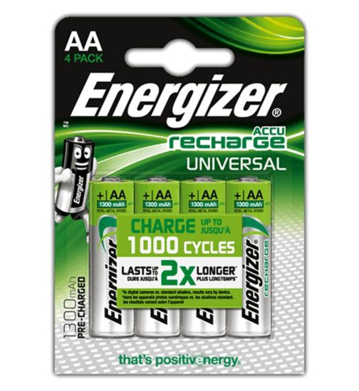 Energizer AA Rechargeable Batteries x 4