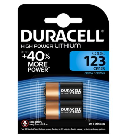 Duracell Ultra 123 3V Lithium Battery x2