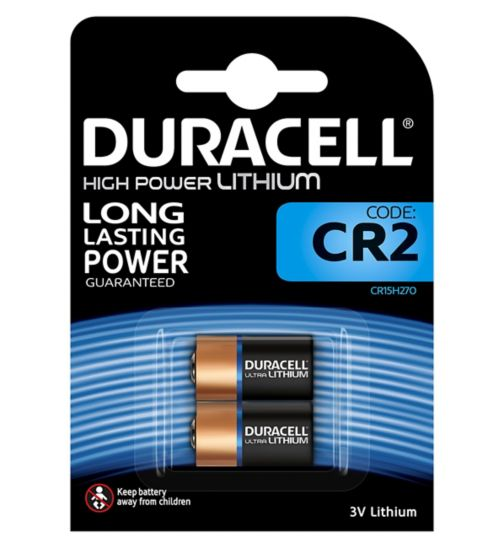 Duracell Ultra Photo CR2 Lithium Batteries Pack of 2
