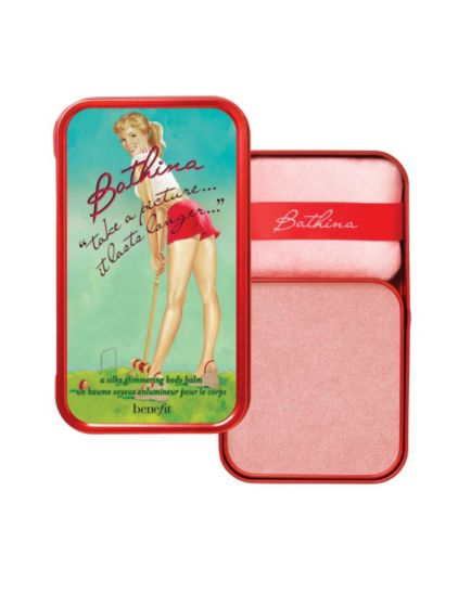 benefit  'take a picture...it lasts longer...' a silky glimmering body balm